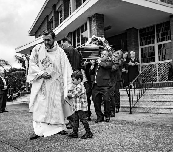 An Italian funeral at St Ambrose Church, Concord