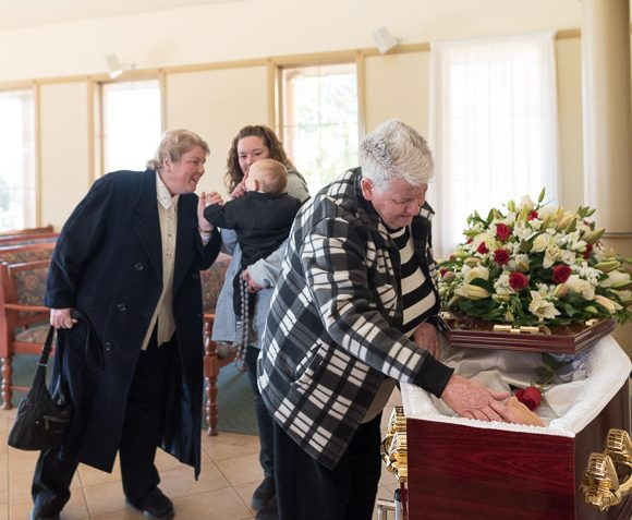 A funeral at Forest Lawn Memorial Park, Leppington