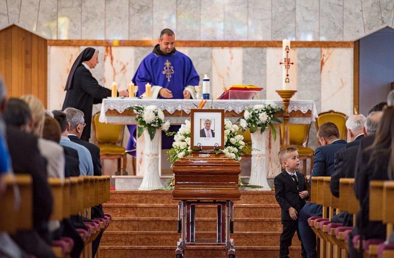 A Croatian Funeral at St Nikola Tavelic church, St Johns Park