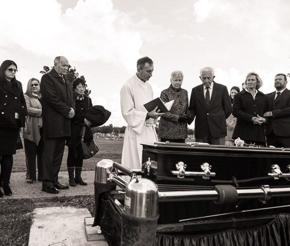 A Catholic funeral, Swansea