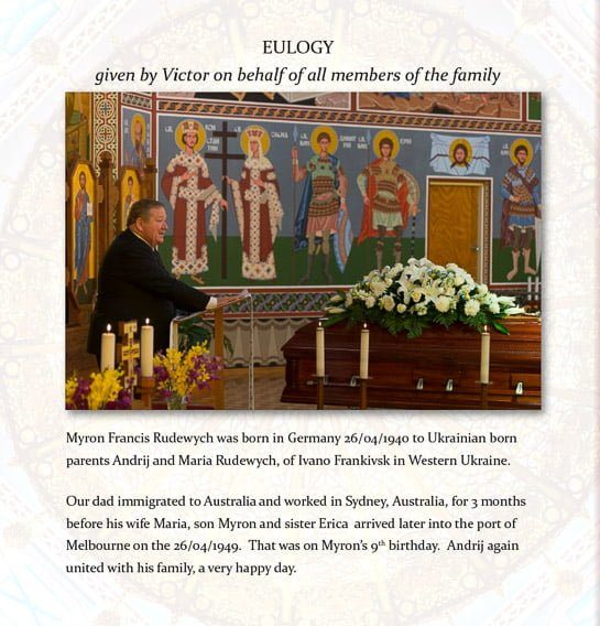 eulogy in funeral book